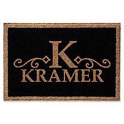 Infinity Monogram Letter K Kramer Door Mat