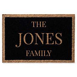 Infinity Single Border Family Name Door Mat