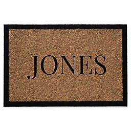 Infinity Single Border Name Door Mat