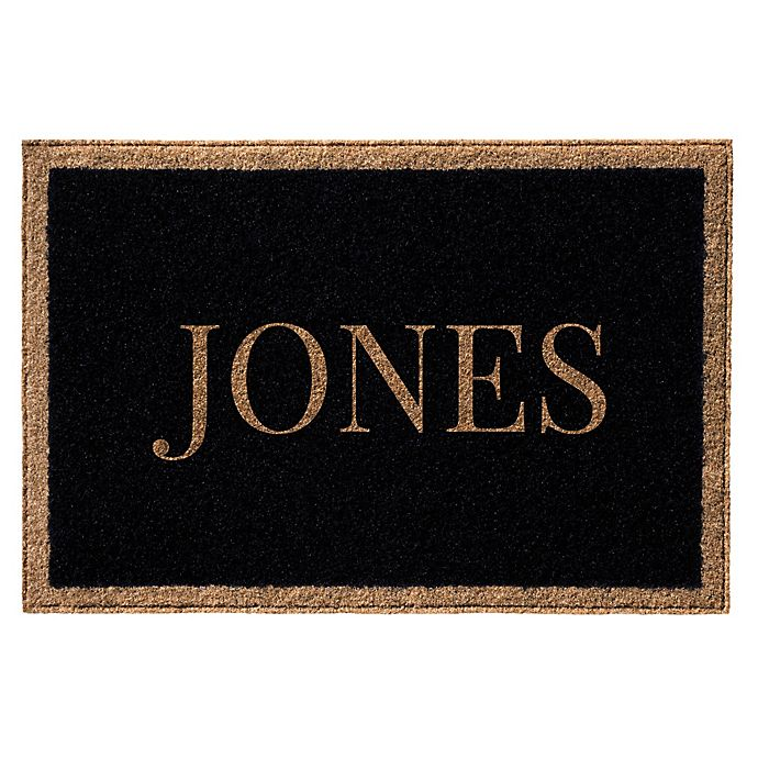 Alternate image 1 for Infinity Door Mats Single Border Name 3-Foot x 5-Foot Door Mat in Black