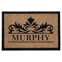 Infinity Murphy Monogrammed 24-Inch x 36-Inch Door Mat in Natural