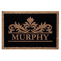 Infinity Murphy Monogrammed 3' x 5' Door Mat in Black