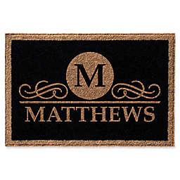 Infinity Monogram Letter M Matthews Door Mat