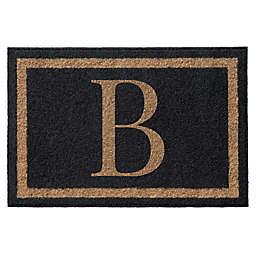 Infinity™ Single Monogram 3' x 6' Door Mat in Black