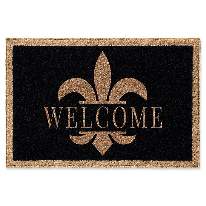 Infinity Fleur De Lis Welcome Door Mat View A Larger Version Of This Product Image
