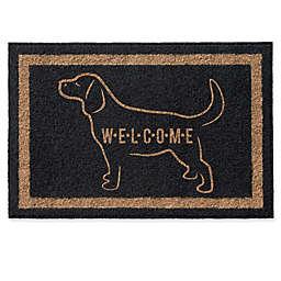 Infinity Labrador Retriever Welcome Door Mat in Black