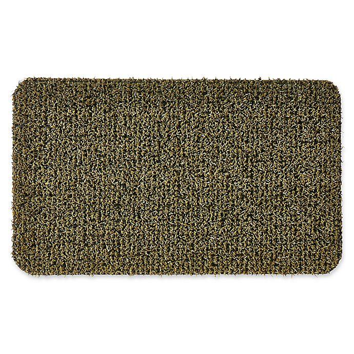 Alternate image 1 for Clean Machine® GrassWorx Flair 18-Inch x 30-Inch Door Mat in Medium Green