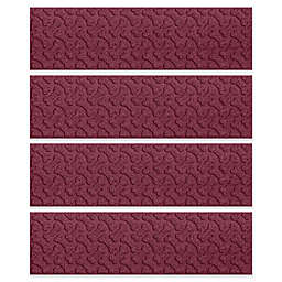 Weather Guard™ Dogbone Protective Stair Treads in Bordeaux (Set of 4)