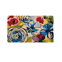 Fab Habitat Watercolor Floral Door Mat