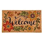 Floral 16-Inch x 28-Inch Welcome Door Mat Insert