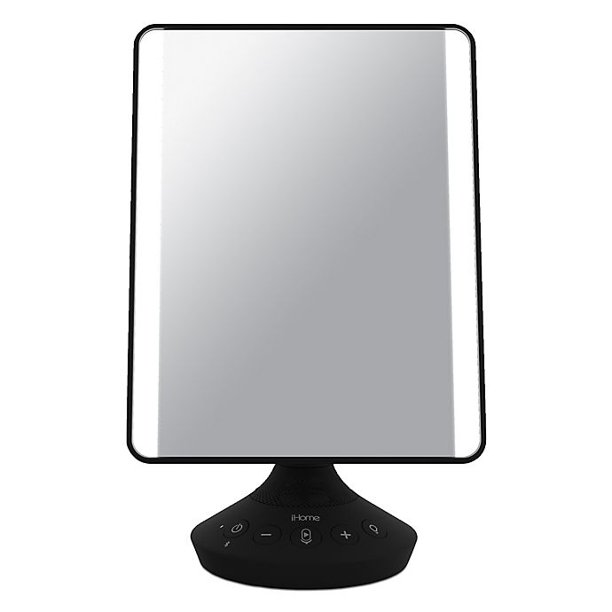 Alternate image 1 for iHome Beauty Flat Mirror with Bluetooth Audio in Black