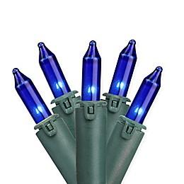 Bethlehem Lighting 46.5-Foot 100-Light Commercial Mini Christmas String Lights in Blue