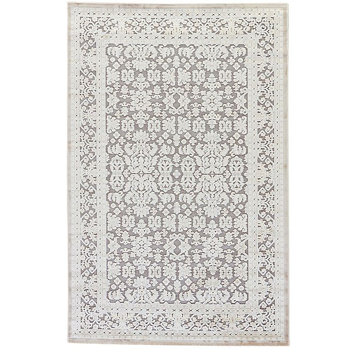 Alternate image 1 for Jaipur Fables Regal 2-Foot 6-Inch x 8-Foot Area Rug in Ivory/Grey