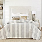 Coastal Living® Nautical Stripe Reversible Full/Queen Quilt Set in Grey