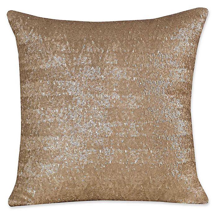 Alternate image 1 for Judith Ripka Sequin Throw Pillow in Tan