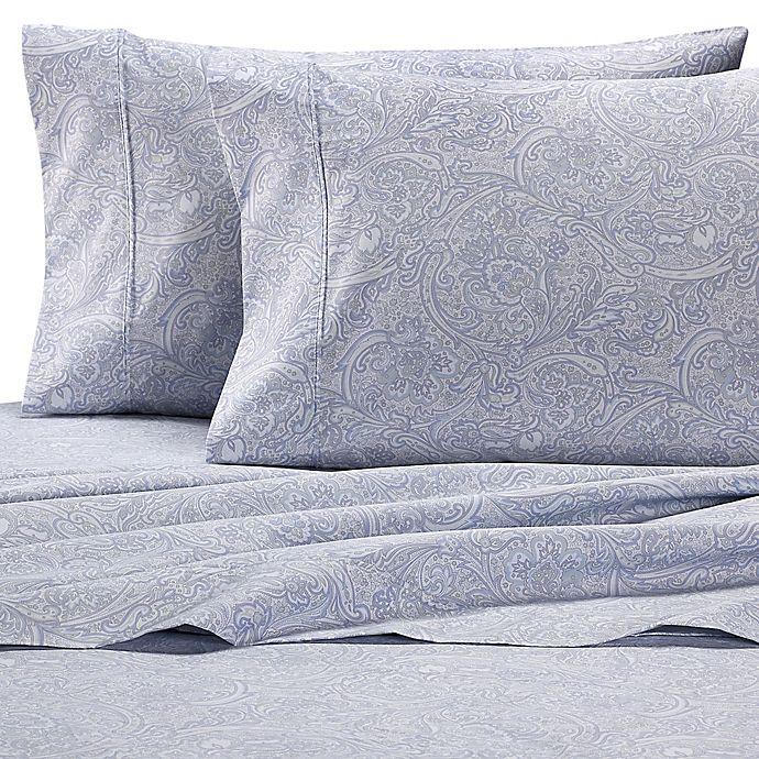 Alternate image 1 for Wamsutta® PimaCott® Paisley 625-Thread-Count King Pillowcase Set