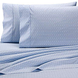 Wamsutta® PimaCott® Cross Geo 625-Thread-Count King Pillowcase Set in Light Blue