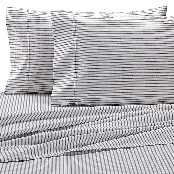 Alternate image 1 for Wamsutta® Stripe 625-Thread-Count PimaCott© Pillowcases in White (Set of 2)
