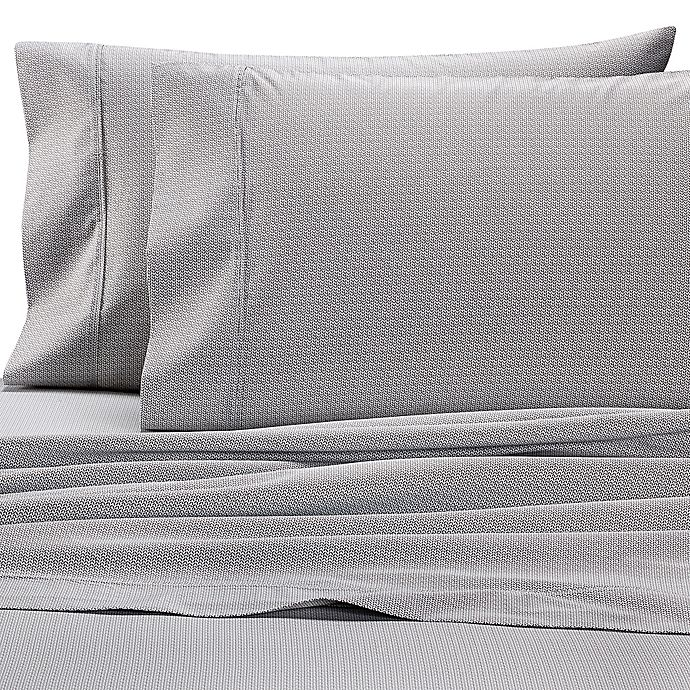 Alternate image 1 for Wamsutta® Leaf 625-Thread-Count PimaCott© Pillowcases in Grey (Set of 2)