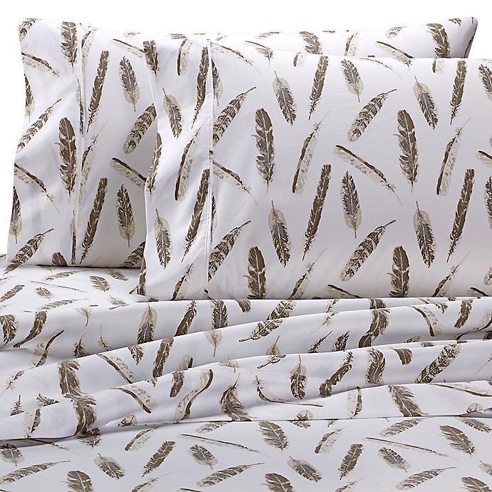 Alternate image 1 for Wamsutta® 625-Thread-Count PimaCott® Feathers Pillowcase in Taupe