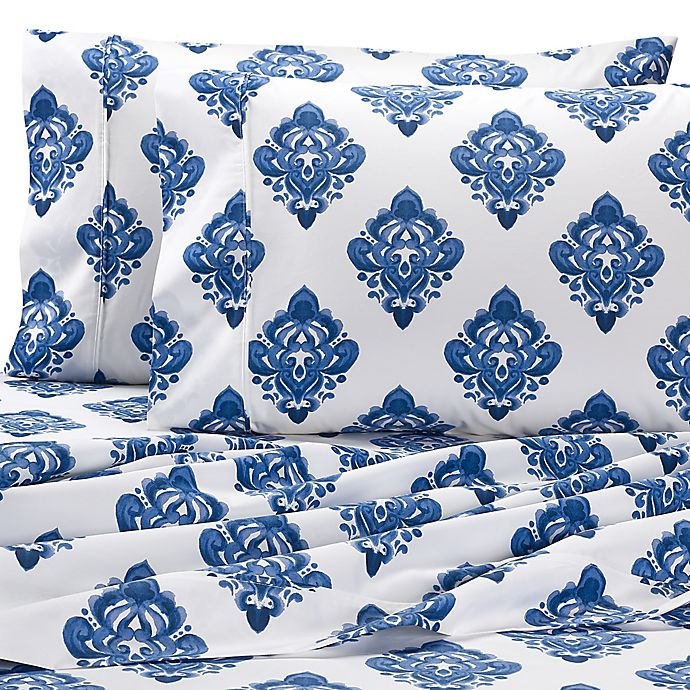 Alternate image 1 for Wamsutta® Medallion Printed 625-Thread-Count PimaCott® Sheet Set