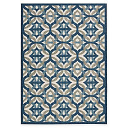 Nourison Waverly Sun & Shade Celestial Indoor/Outdoor Area Rug in Blue