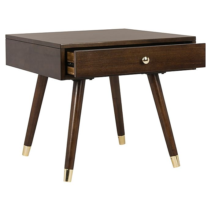 Alternate image 1 for Safavieh Levinson Gold Cap End Table with Brown Finish