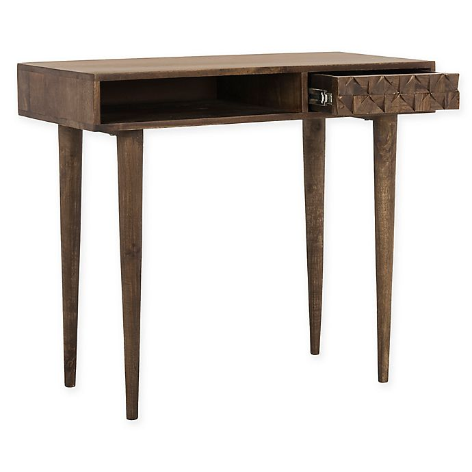 Alternate image 1 for Safavieh Zinnia Desk in Walnut