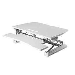 AIRLIFT 35.4-Inch Pneumatic Adjustable Standing Desk Converter in White