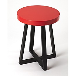 Butler Specialty Company Bram 18-Inch Round End Table in Red/Black