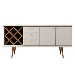 Manhattan Comfort Utopia Sideboard with 4-Bottle Wine Rack