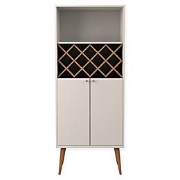 Manhattan Comfort Utopia China Cabinet with 10-Bottle Wine Rack