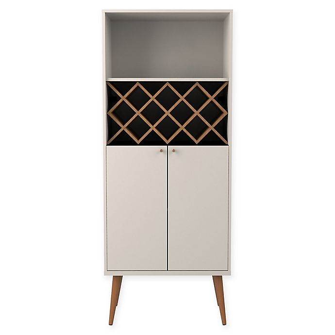Alternate image 1 for Manhattan Comfort Utopia China Cabinet with 10-Bottle Wine Rack
