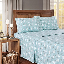 True North by Sleep Philosophy Cozy Flannel Bears Sheet Set
