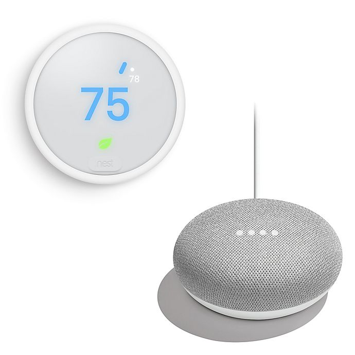 Google Nest Learning Thermostat E with Bonus Google Home Mini