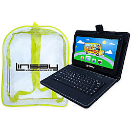 Linsay® 10.1-Inch Quad Core Tablet with Black Key and Bag in Black