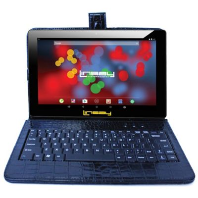 "Linsay 10.1"" 1280 x 800 Ips Screen Quad Core 2GB Ram Tablet 16 Gb Android 6.0 with Crocodile Style Keyboard"
