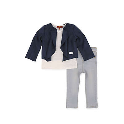 7 For All Mankind® 3-Piece Suede Jacket, T-Shirt, and Jean Set