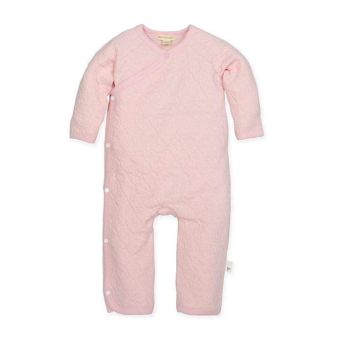 Alternate image 1 for Burt's Bees Baby® Preemie Organic Cotton Quilted Kimono Coverall in Pink