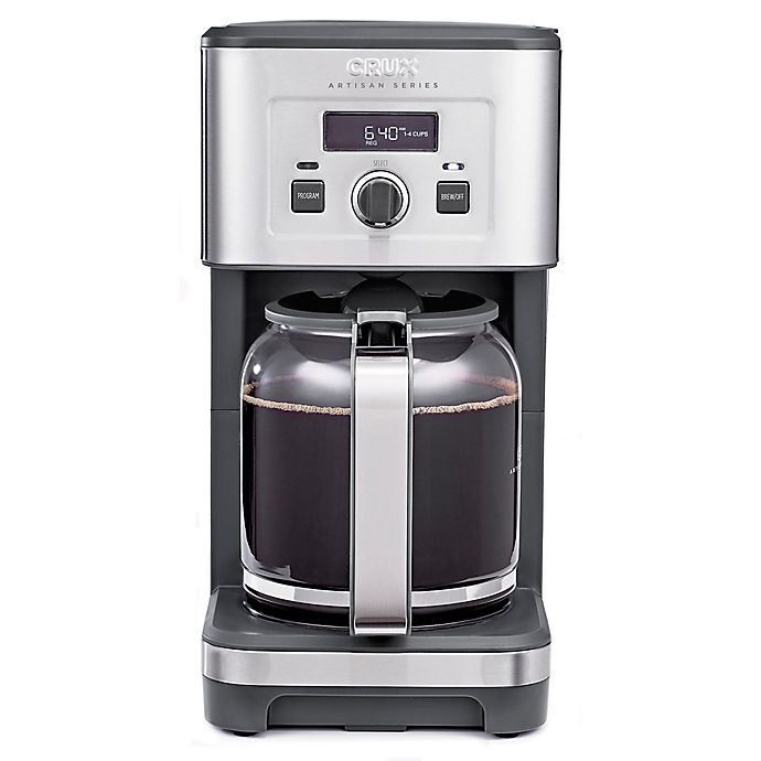 Alternate image 1 for CRUX® Artisan Series 14-Cup Programmable Coffee Maker in Stainless Steel