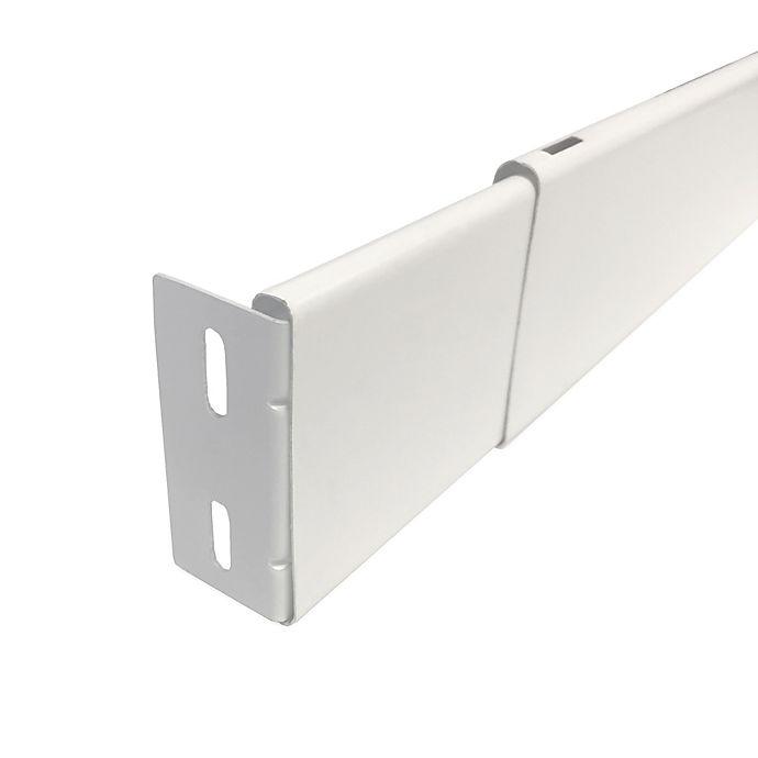 Alternate image 1 for Maytex 2 1/2-Inch Wide Pocket Adjustable Rod in White
