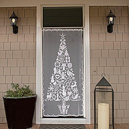 Heritage Lace® Christmas Tree 76-Inch Rod Pocket Window Curtain Panel