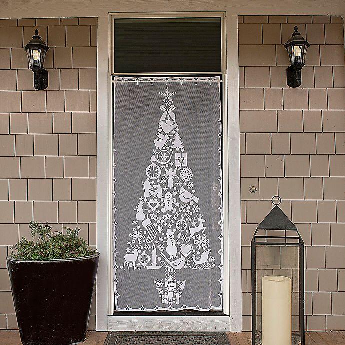 Alternate image 1 for Heritage Lace® Christmas Tree 76-Inch Rod Pocket Window Curtain Panel (Single)