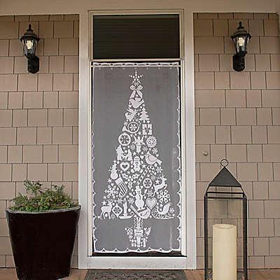 Heritage Lace® Christmas Tree 76-Inch Rod Pocket Window Curtain Panel