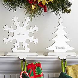 Engraved Nickel-Plate Stocking Holder Collection