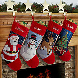 Winter Charm  Needlepoint Christmas Stocking Collection