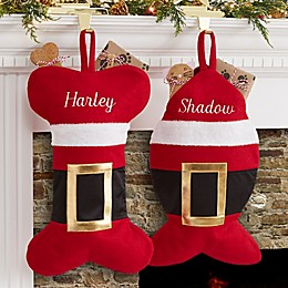 Santa Belt Pet Christmas Stocking Collection