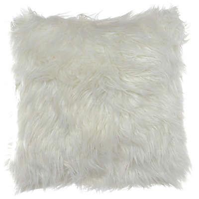City Scene Shag Faux Fur 16-Inch Square Throw Pillow