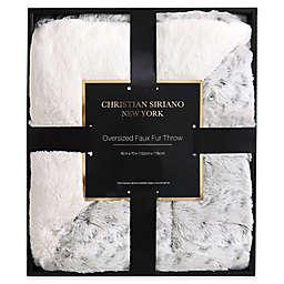 Christian Siriano NY® Leopard Faux Fur Throw Blanket