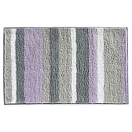 InterDesign® Microfiber Stripz Bath Rug Collection